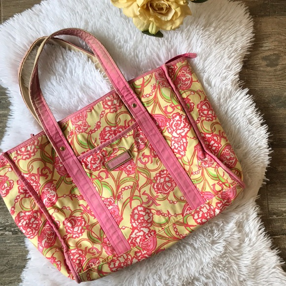 8c8177bbbd9b48 Lilly Pulitzer Bags | Chi Omega Sorority Original Tote | Poshmark